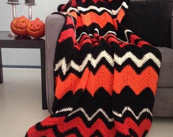 Halloween Blanket Halloween Decor Spooky Orange And