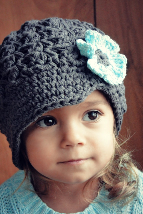 Crochet Patterns Hats For Toddlers : Hat for Girls crochet baby hat kids hat gray hat newsboy