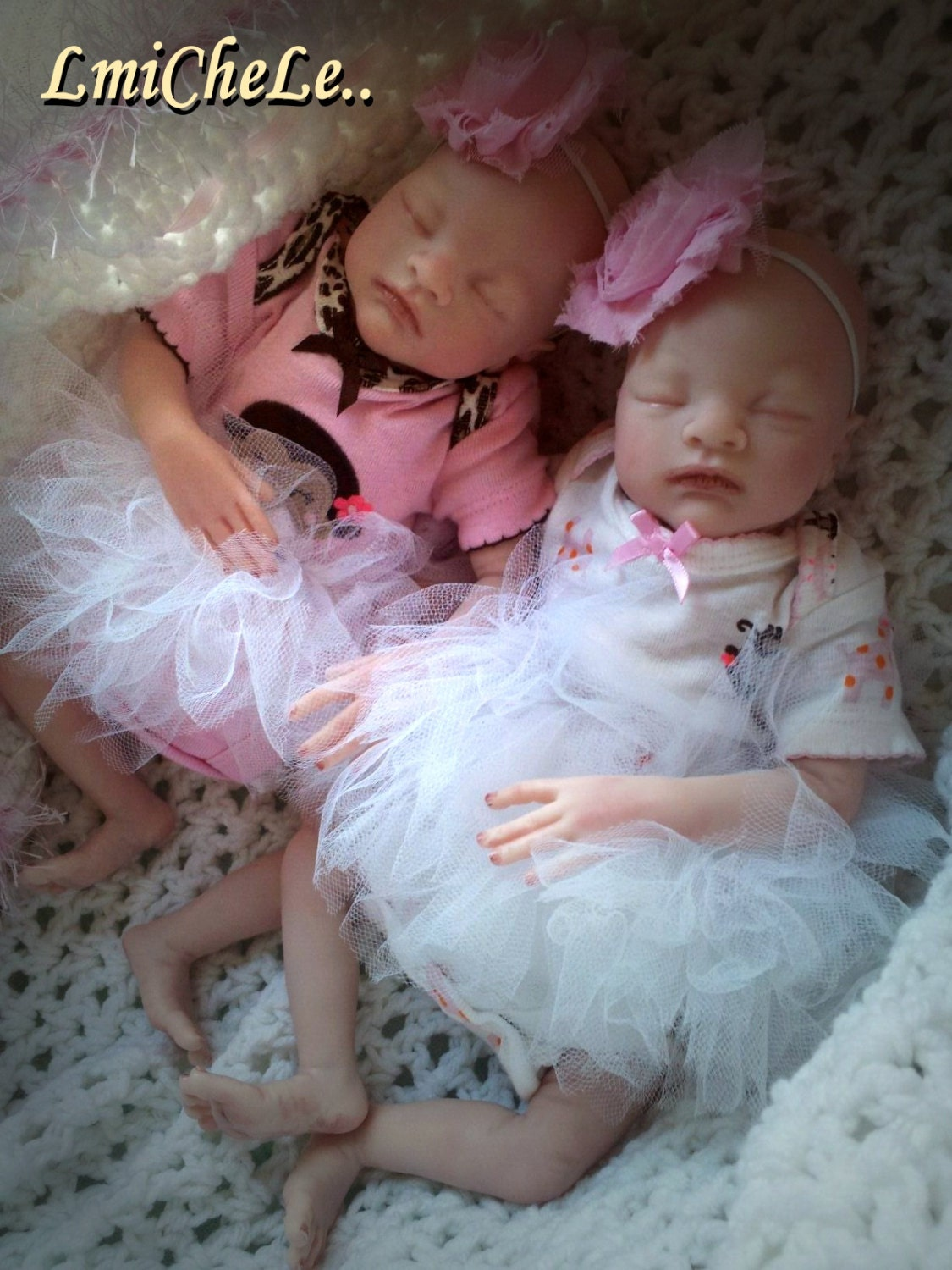Reborn Twins Baby Anna And Amelia From The Caleb 14 Inch Kit