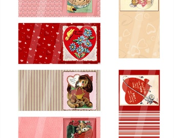 Digital Valentine Folding Gift Tags