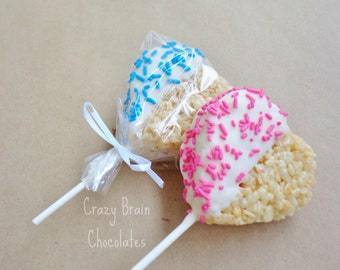Baby Shower Rice Krispie Heart Pops (12)