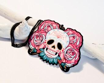 SUGAR SKULL - Tattoo Inspired Necklace