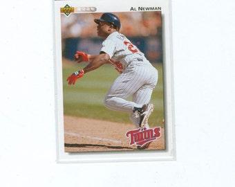 Vintage 1991 Al Newman 293 Infield Twins Upper Deck Baseball Card