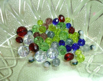 Sparkling Colorful Acrylic Beads - 26 pcs- Jewelry Making Supplies