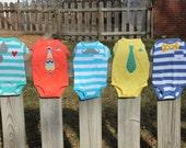 Baby Boy Spring Onesie Gift Set--Tie, Sunglasses, Mustache and Bow Tie Onesies