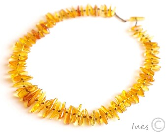 Baltic Amber Necklace. Honey Color Amber