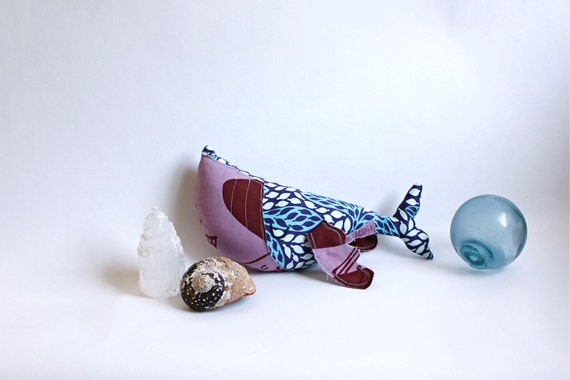 HOLIDAY CLEARANCE! Handmade Humpback Whale Softie - OOAK - blue and purple