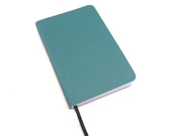 Turquoise Journal, Vegan Notebook,  Eighth-Page