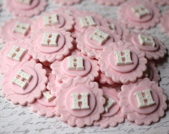 Fondant Initial Toppers - Fondant Letter Topper - Fondant Classic Initial Toppers - Perfect for Cupcakes, Cookies and Other Edible Creations