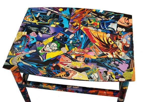 Items Similar To Comic Book Furniture Decoupaged In Authentic Dc And Marvel Comic Books Pick