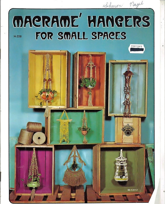 Macrame Hangers For Small Spaces Pattern Book
