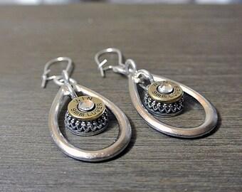 Raindrop Bullet Earrings - 9mm Bullet Jewelry -  TearDrop Jewelry