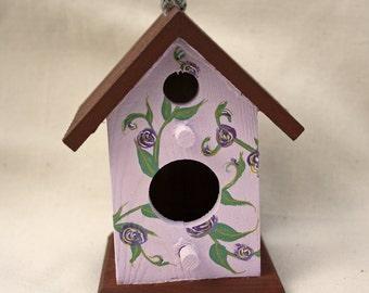 Floral Bird House Decoration