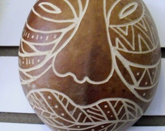 Afro Caribbean Gourd Masks- Tiano Influenced- Puerto Rican Culture- Hand Carved