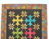 Batik Crosses wall hanging/lap quilt