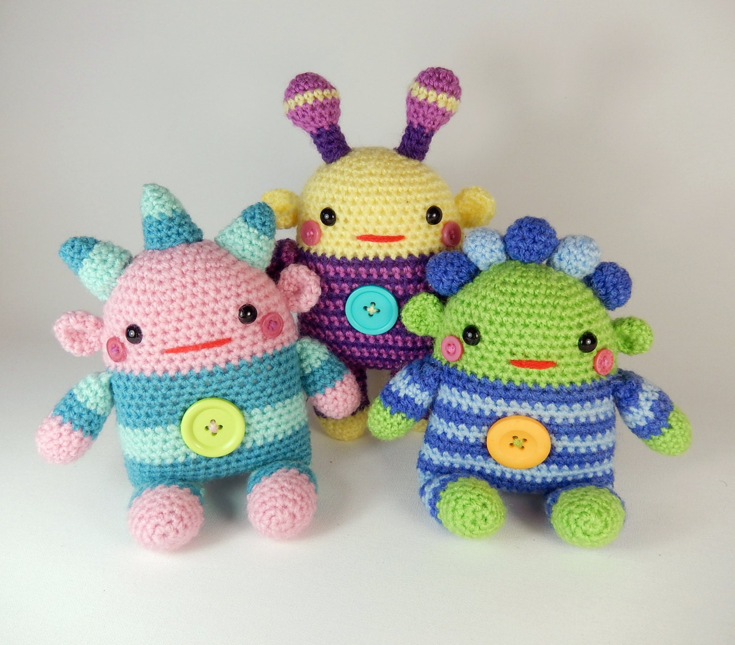 Romper Monsters Amigurumi Crochet Doll Pattern