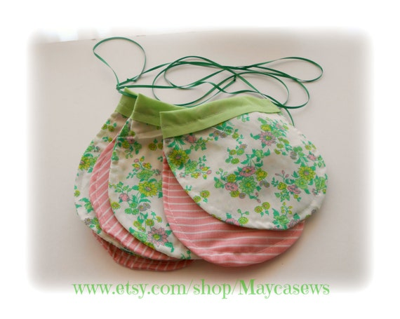 Green and Pink Bunting. Nursery Decor (12 flags). Photo Prop. Baby Shower. Eco-Friendly. Reusable. READY TO SHIP.