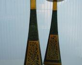 Vintage Judaica -DAYAGI- brass candleholders, Made in Israel