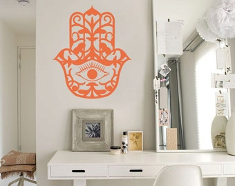 Hamsa, Vinyl Wall Decal, House Protection, Vinyl Sticker, Wall Decoration, Hamsa Wall Art, Wall Decal, Hamsa Sticker, wall stickers ID2 [p]