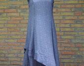 """Sommerkleid """"Windrose"""" Chiffon grau lang weit, handmade Sommerkleid aus grauem leichtem Chiffon, sehr angenehm zu tragen und pflegeleicht"""