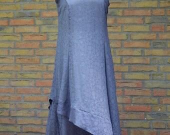 "summer dress ""Windrose"" chiffon grey long wide, handmade summer dress made of grey and soft chiffon,comfortable to wear,long wonderful dress"