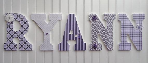 Items Similar To Nursery Wall Letters Nursery Wall Decor Wooden Letters Cu