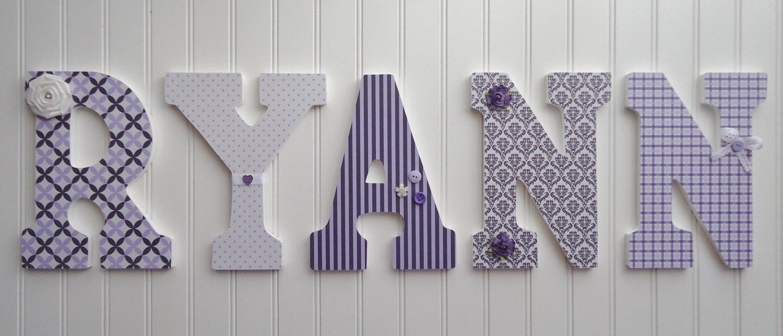 nursery wall letters nursery wall decor wooden by fabbdesigns