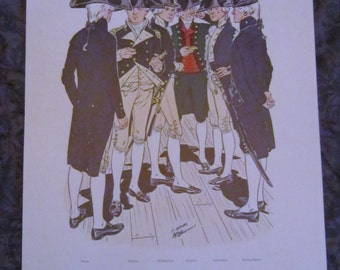 US Navy Uniforms 1966 Department of Naval History Color Prints 1776 - 1898 Set of 12 Original Portfolio