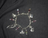 Cat and Crystal Charm Bracelet