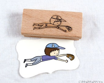 30% OFF SALE baseball 01 Rubber Stamp