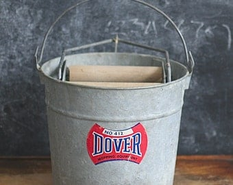 Industrial Dover 412 Mopping Equipment Bucket Galvanized Steel