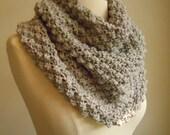 Merino wool high cowl - light gray