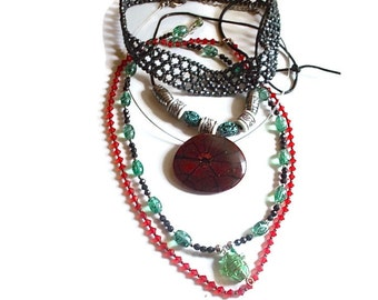 Necklace Jewelry Lot Destash for Upcycled Assemblage