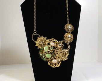 OOAK Upcycled from Vintage Statement Necklace