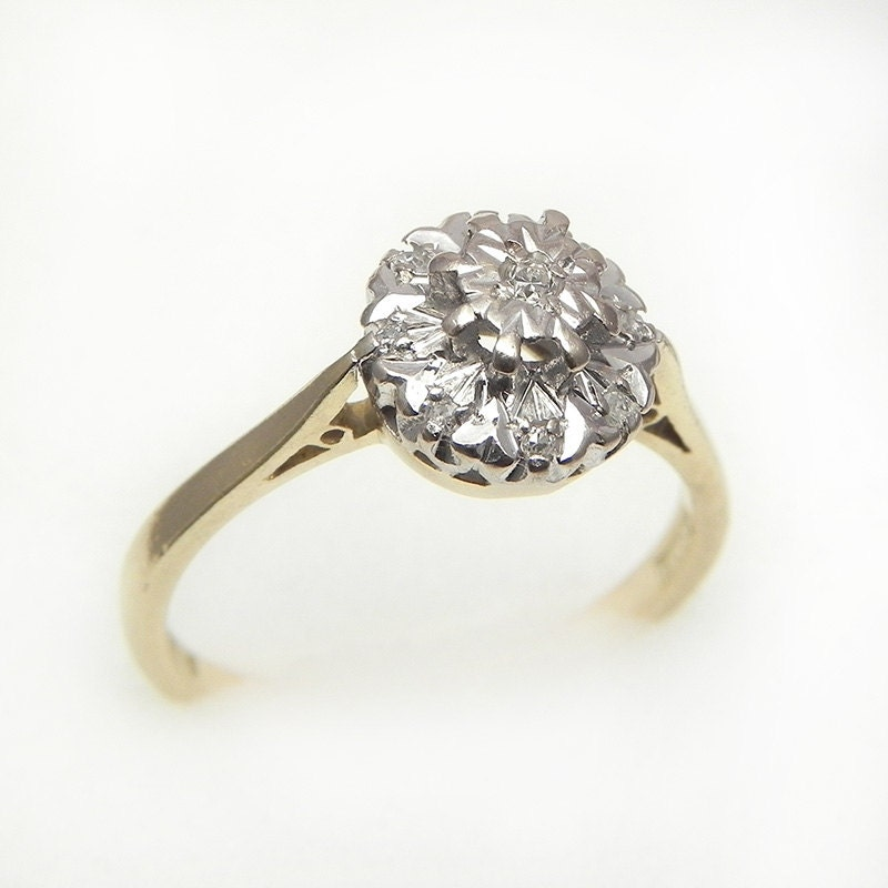 Vintage 18K Gold Diamond Ring 0.1cts – Size 6.5 – suit ...