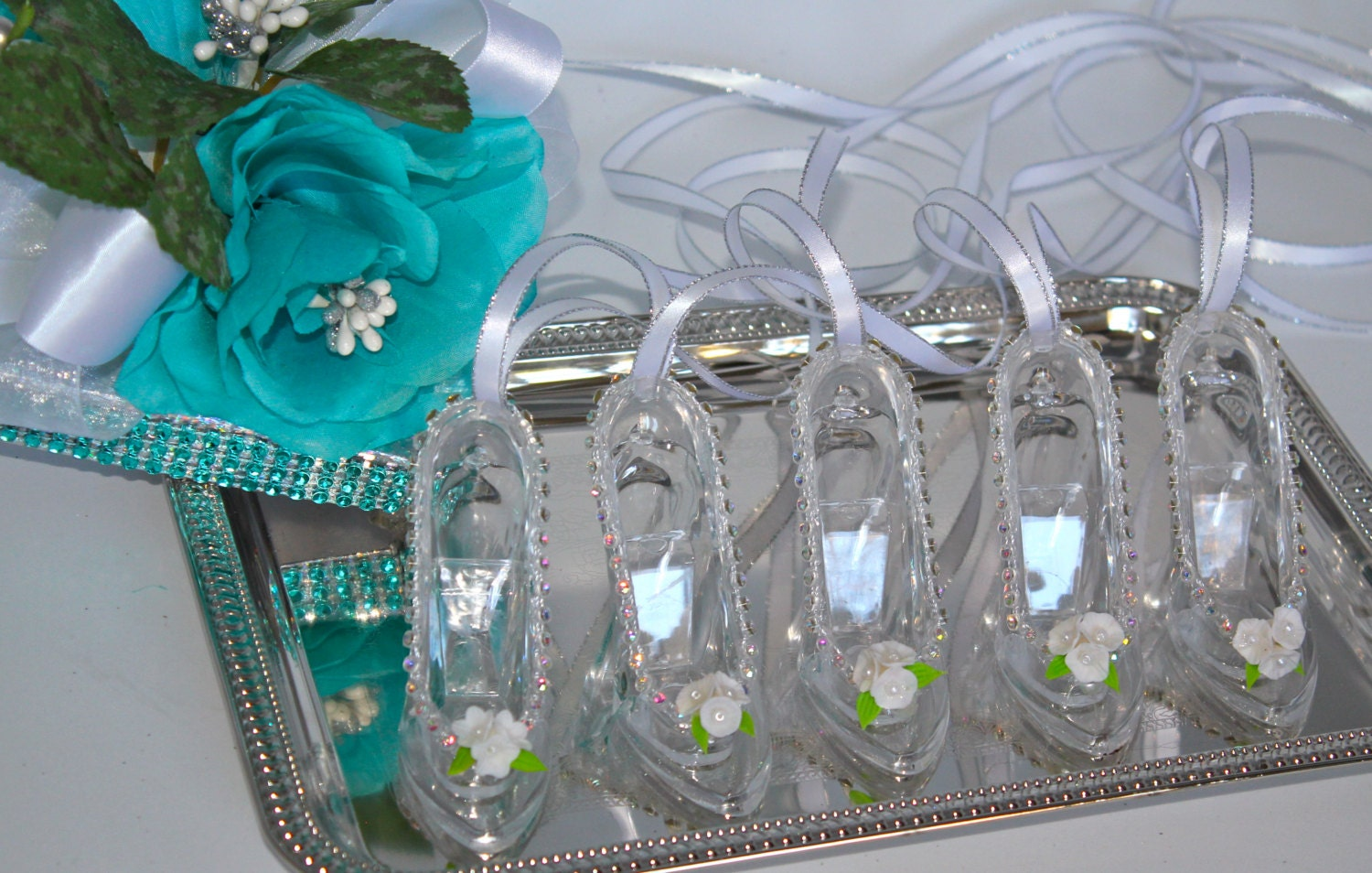 glass slipper cinderella wedding favors by favorsboutique