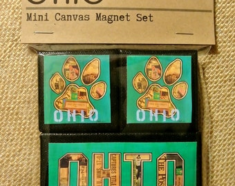 OU - Ohio University Bobcats Mini Canvas Magnets - set of 3