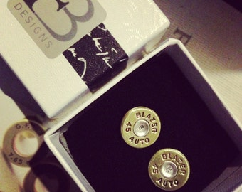 Bullet Cuff Links - Personalized - Brass and Bronze