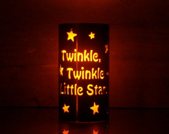 Twinkle Twinkle Little Star - 1120 - Metal Candle Holder Luminary
