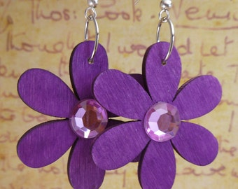 SALE! Purple Petals Earrings