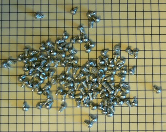 "100 - Rivet - Rivit - #4 - 3/16"" - Spiral U-Drive Cadmium Rivets - Steel Rivet - Metal Rivet - FREE SHIPPING -  MG-346"