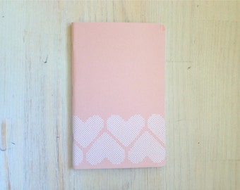 Large Notebook: Hearts, Pink, Wedding, Favor, Notebook, Journal, For Her, For Him, Gift, Unique, Blank Journal, Unlined Journal, L8-047
