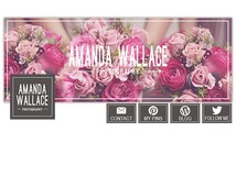 Facebook Cover Template for Photographers, Facebook Timeline Cover Photoshop Templates, Facebook Header Template  - FB166