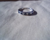 10k White Gold Sapphire and Diamond Eternity Band