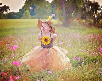 Scarecrow Cutie Costume Tutu Dress