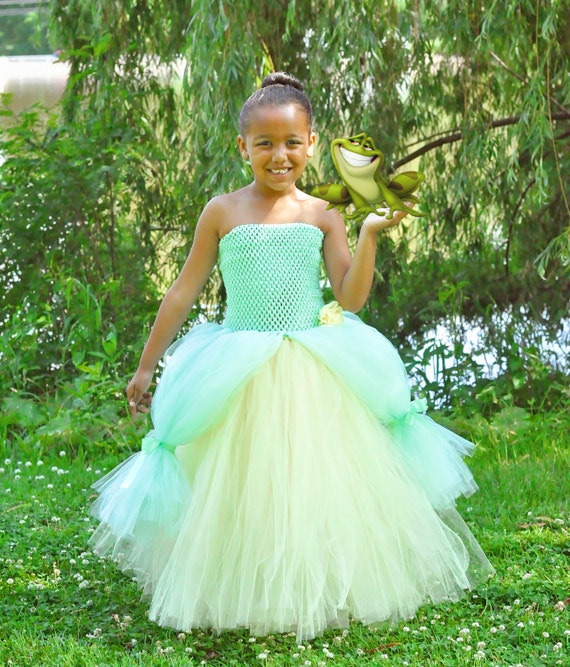 Princess Tiana Dress: Princess And The Frog Tiana Inspired Costume Tutu Dress