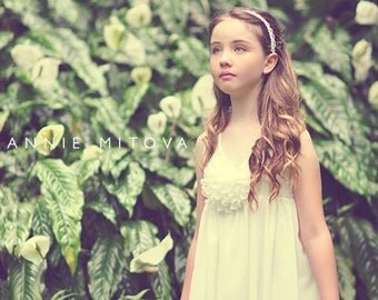 Ivory Flower Girl Dress with layers of chiffon
