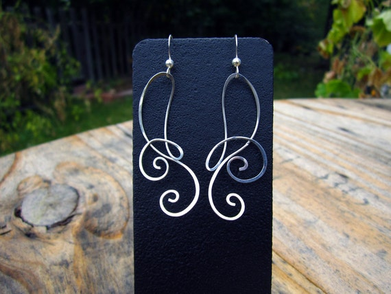 Free Form Sterling Silver Earrings