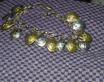 Multi-Metal Wizard-for-Hire Shield Bracelet of Protection - by KingdomoftheGeek
