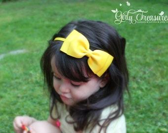Large Yellow Headband. Yellow Headband. Baby Headband. Infant Headband. Girl Headband. Photo Prop.